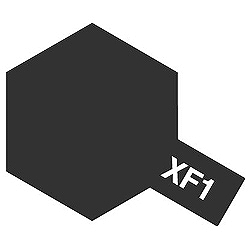タミヤカラー エナメル XF-1 フラットブラック (つや消し)