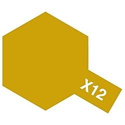 タミヤカラー アクリルミニ X-12 ゴールドリーフ (光沢)