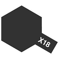 タミヤカラー アクリルミニ X-18 セミグロスブラック (光沢)