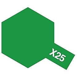 タミヤカラー アクリルミニ X-25 クリヤーグリーン (光沢)