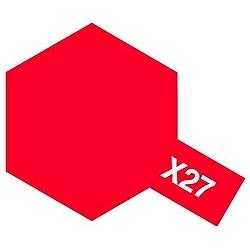 タミヤカラー アクリルミニ X-27 クリヤーレッド (光沢)