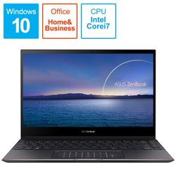 ノートパソコン ZenBook Flip S UX371EA(4K有機EL・コンバーチブル型) ジェードブラック UX371EA-HL003TS [13.3型 /intel Core i7 /SSD:1TB /メモリ:16GB /2020年11月モデル]