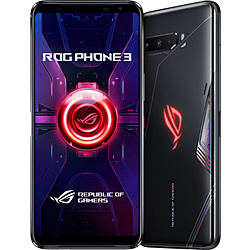 ASUS ROG Phone 3 ブラックグレア「ZS661KS-BK512R12」Snapdragon 865 Plus 6.59型・メモリ/ストレージ:12GB/512GB nanoSIM x2 DSDV対応 SIMフリースマートフォン ROG ブラックグレア ZS661KS-BK512R12