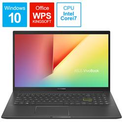 ASUS(エイスース) ノートパソコン VivoBook 15 インディーブラック K513EA-BQ614T [15.6型 /intel Core i7 /HDD:1TB /SSD:256GB /メモリ:8GB /2020年12月モデル]
