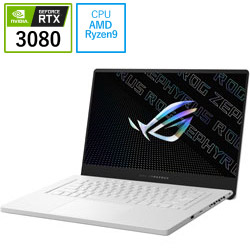 ASUS(エイスース) GA503QS-R9R3080W ゲーミングノートパソコン ROG Zephyrus G15 GA503QS ムーンライトホワイト [15.6型 /AMD Ryzen 9 /SSD:1TB /メモリ:32GB /2021年3月モデル]