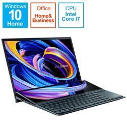 ノートパソコン ZenBook Duo 14(2画面 タッチパネル) セレスティアルブルー UX482EG-KA143TS [14.0型 /intel Core i7 /SSD:1TB /メモリ:16GB /2021年4月モデル]