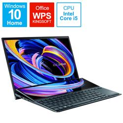 ノートパソコン ZenBook Duo14(2画面 タッチパネル) セレスティアルブルー UX482EG-KA146T [14.0型 /intel Core i5 /SSD:512GB /メモリ:16GB /2021年4月モデル]