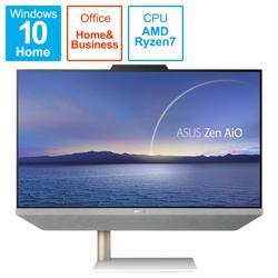 ASUS(エイスース) A5401W-R75700BP デスクトップパソコン Zen AiO 24 A5401 ホワイト [23.8型 /AMD Ryzen7 /HDD:1TB /SSD:256GB /メモリ:16GB /2021年4月モデル]