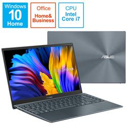 ノートパソコン ZenBook 13 OLED UX325EA【有機EL】 パイングレー UX325EA-KG409TS [13.3型 /intel Core i7 /メモリ:16GB /SSD:1TB /2021年6月モデル]