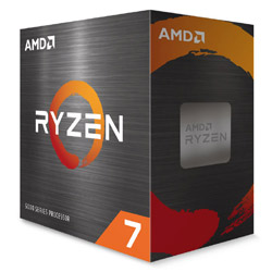 〔CPU〕AMD Ryzen 7 5800X W/O Cooler (8C/16T,3.8GHz,105W)【CPUクーラー別売】   100-100000063WOF