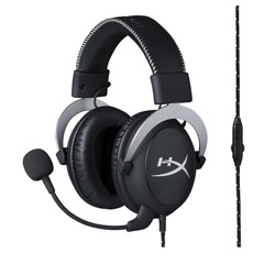 HyperX Cloud Silver 有線ゲーミングヘッドセット[PS4(家庭用ゲーム機)・PC対応] HX-HSCL-SR/NA