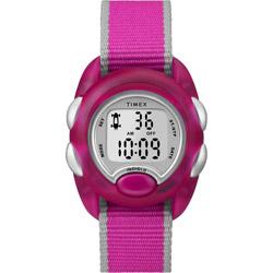 TIMEX Kids タイムマシーンデジタル ピンク ナイロンストラップ TW2R99000【正規品】 TW2R99000