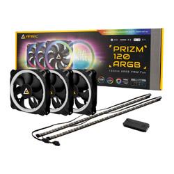 ケースファン[120mm/2000RPM]+LEDコントローラー+LEDストリップ Prizm 120 ARGB 3+2+C