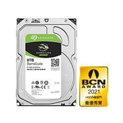Seagate ST8000DM004 内蔵HDD BarraCuda [3.5インチ /8TB]