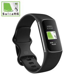 FITBIT 【Suica対応】Fitbit Charge5 GPS搭載フィットネストラッカー L/Sサイズ  ブラック FB421BKBK-FRCJK