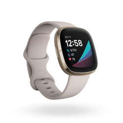 Fitbit Sense GPS搭載 スマートウォッチ ルナホワイト/ソフトゴールド L/S サイズ  ルナホワイト FB512GLWT-FRCJK