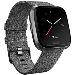 FITBIT Fitbit フィットビット スマートウォッチ Versaスペシャルエディション  Chacoal Woven  L/Sサイズ FB505BKGY-CJK チャコール/グラファイトアルミニウム