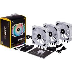 LL120 RGB White Triple Fan Kit CO-9050092-WW (ケースファン/120mm/360〜2200rpm)