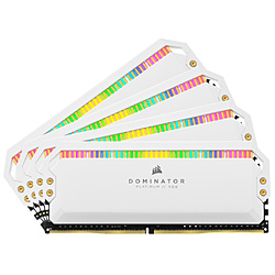 増設メモリ DOMINATOR PLATINUM RGB ホワイト CMT64GX4M4K3600C18W [DIMM DDR4 /16GB /4枚]