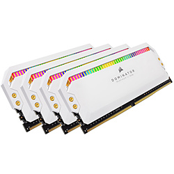 増設メモリ DOMINATOR PLATINUM RGB ホワイト CMT64GX4M4E3200C16W [DIMM DDR4 /16GB /4枚]