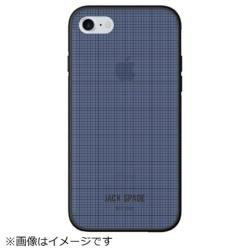 iPhone 8 / 7用 Printed Clear Case JSIPH-016-NVY Graph Check/Navy