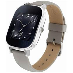 ウェアラブル活動量計(ウォッチタイプ) Android Wear スマートウォッチ 「ASUS ZenWatch 2」(45mmモデル・本体:シルバー/ストラップ:グレーベージュ[本皮]) WI502Q-GR04