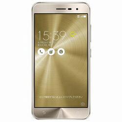 Zenfone3 クリスタルゴールド 「ZE520KL-GD32S3」 Android 6.0.1・5.2型・メモリ/ストレージ:3GB/32GB microSIM×1、nano×1 SIMフリースマートフォン ZE520KL-GD32S3 クリスタルゴールド