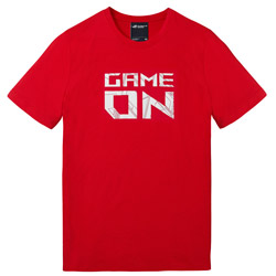 ROG Tシャツ-GAME ON(レッド)