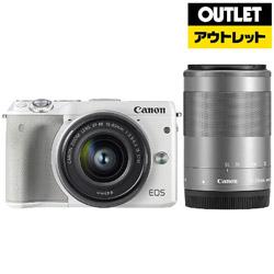 キヤノン CANON 【在庫限り】【アウトレット】 EOS M3 ダブルズームキット2 ホワイト [キヤノンEF-Mマウント] ミラーレス一眼カメラ