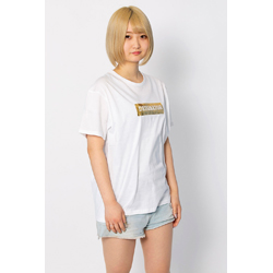 DeToNator オリジナルTシャツ ホワイト/ゴールド
