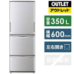 シャープ 【基本設置料金セット】 SJ-W352F-S 冷蔵庫 どっちもドア シルバー系 [3ドア /左右開きタイプ /350L] 【生産完了品】