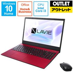 NEC PC-N1535BAR ノートパソコン LAVIE N15シリーズ カームレッド [15.6型 /intel Core i3 /SSD:256GB /メモリ:8GB /2021年1月モデル] 【生産完了品】