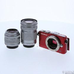 [使用] PEN精簡版E-PL3雙鏡頭套裝(紅色)(1230萬像素/ SDXC)