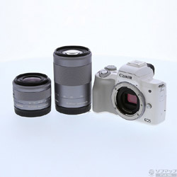 [Used] EOS Kiss M (white) double zoom kit