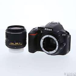 〔中古〕 NIKON D5500 18-55 VRⅡ レンズキット ブラック (2416万画素/SDXC)