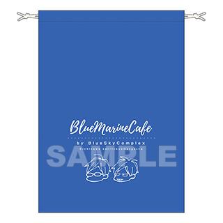 東京漫画社 【店頭併売品】 Blue Marine Cafe Lサイズ巾着袋(紺)