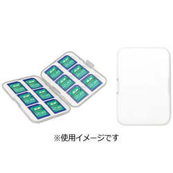 GH-CA-SD12W 最大12枚収納可能SDカードケース