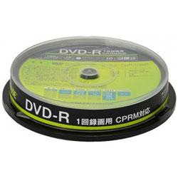 録画用DVD-R 1-16倍速 片面4.7GB1層 10枚 インクジェットプリンター対応 GH-DVDRCA10