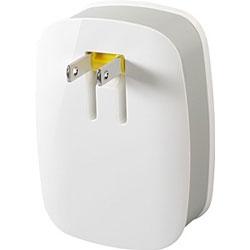 iPad/iPhone/iPod対応[USB給電] AC - USB充電器 (2ポート・ホワイト) KNX-OT-000009