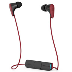 charisma wireless(ブラック/レッド)MOP-EP-000005【防滴】【リモコン・マイク対応】 ブルートゥースイヤホン カナル型
