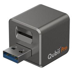 Qubii Pro バックアップ iPhone 写真 動画 連絡先 iTunesミュージック Micro SD 外部ストレージ MAK-OT-000006 スペースグレイ