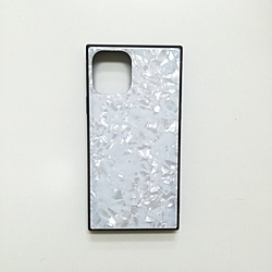 iPhone 11 Pro Max 6.5インチ SQガラスハイブリッドケース(シェル柄) AIC-SHE12-NEW65