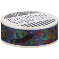 『包む』マスキングテープ 15mm×10m(スペーストラベル) M-0119