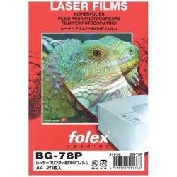 BG78P レーザー用OHPフィルム A4(20) 0.175mm