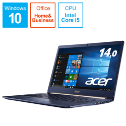 Acer(エイサー) モバイルノートPC Swift 5 SF514-52T-A58U/BNF チャコールブルー [Win10 Home・Core i5・14.0インチ・Office付き]
