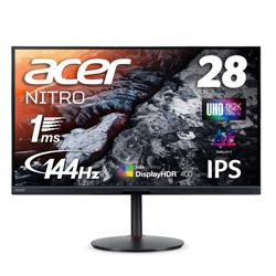 Acer(エイサー) XV282KKVbmiipruzx USB-C接続 ゲーミングモニター Nitro XV2 ブラック [28型 /ワイド /4K(3840×2160)]