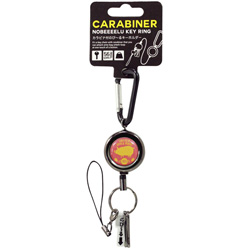 カラビナ付きのび?るキーホルダー Pig SS-01R