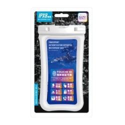 指紋認証対応 防水ケース ホワイト M-WP04WH