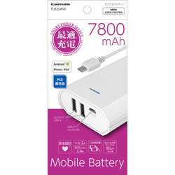 TL82SA モバイルバッテリー ホワイト [5200mAh/microUSB/充電タイプ]