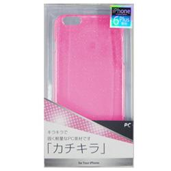 iPhone 6 Plus用 PCラメ入ジャケット ピンク cpcl-ip06pp